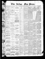 Acton Free Press (Acton, ON), August 22, 1889