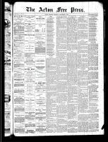 Acton Free Press (Acton, ON), August 29, 1889
