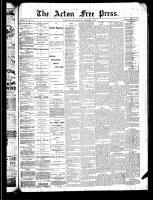 Acton Free Press (Acton, ON), November 7, 1889