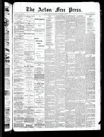 Acton Free Press (Acton, ON), November 14, 1889
