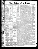 Acton Free Press (Acton, ON), November 21, 1889