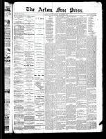 Acton Free Press (Acton, ON), November 28, 1889