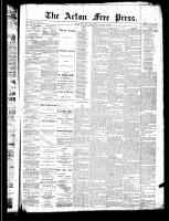 Acton Free Press (Acton, ON)16 Jan 1890