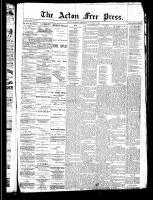 Acton Free Press (Acton, ON), January 30, 1890