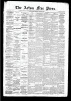 Acton Free Press (Acton, ON), October 23, 1890