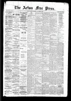 Acton Free Press (Acton, ON), November 13, 1890