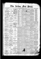 Acton Free Press (Acton, ON), January 7, 1892