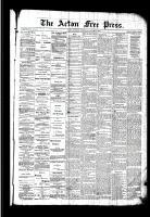 Acton Free Press (Acton, ON), January 14, 1892