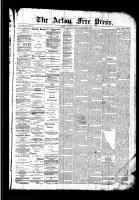 Acton Free Press (Acton, ON), January 21, 1892
