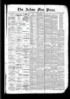 Acton Free Press (Acton, ON), August 4, 1892