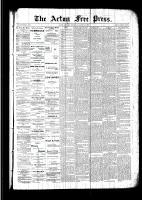 Acton Free Press (Acton, ON), August 18, 1892
