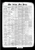 Acton Free Press (Acton, ON), August 25, 1892