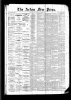 Acton Free Press (Acton, ON), September 1, 1892