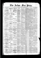 Acton Free Press (Acton, ON), September 8, 1892