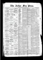 Acton Free Press (Acton, ON), October 6, 1892