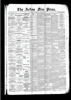 Acton Free Press (Acton, ON), October 13, 1892