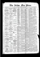 Acton Free Press (Acton, ON), October 20, 1892
