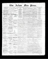 Acton Free Press (Acton, ON), August 10, 1893