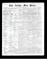 Acton Free Press (Acton, ON), August 30, 1894