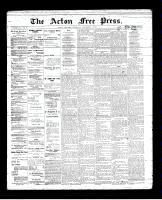 Acton Free Press (Acton, ON), November 1, 1894