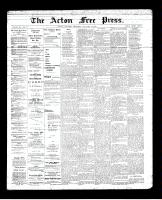 Acton Free Press (Acton, ON), January 31, 1895