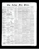 Acton Free Press (Acton, ON), August 8, 1895