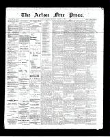 Acton Free Press (Acton, ON), August 22, 1895