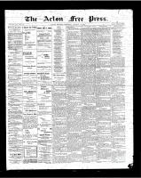 Acton Free Press (Acton, ON), January 11, 1900