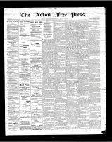 Acton Free Press (Acton, ON), January 18, 1900