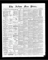 Acton Free Press (Acton, ON), January 25, 1900