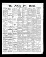 Acton Free Press (Acton, ON), March 1, 1900