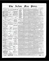 Acton Free Press (Acton, ON), March 29, 1900
