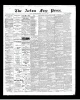 Acton Free Press (Acton, ON), August 30, 1900