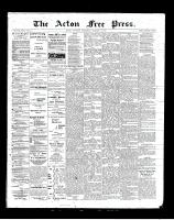 Acton Free Press (Acton, ON), October 11, 1900