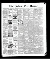 Acton Free Press (Acton, ON), November 26, 1908