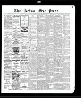 Acton Free Press (Acton, ON), December 31, 1908