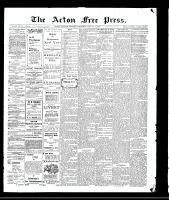 Acton Free Press (Acton, ON), January 7, 1909