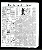 Acton Free Press (Acton, ON), October 7, 1909