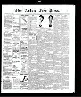 Acton Free Press (Acton, ON), November 11, 1909
