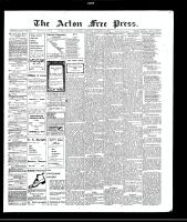 Acton Free Press (Acton, ON), November 18, 1909