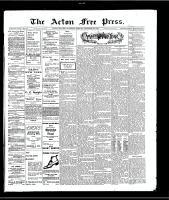 Acton Free Press (Acton, ON), December 30, 1909
