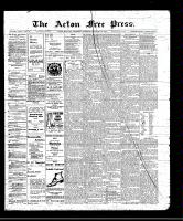 Acton Free Press (Acton, ON), January 20, 1910
