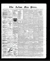Acton Free Press (Acton, ON), February 10, 1910