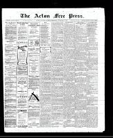 Acton Free Press (Acton, ON)3 Nov 1910