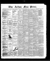 Acton Free Press (Acton, ON)1 Feb 1912