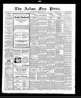 Acton Free Press (Acton, ON), July 21, 1921