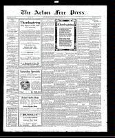 Acton Free Press (Acton, ON), November 3, 1921