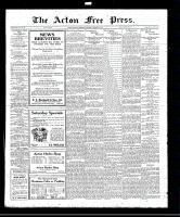 Acton Free Press (Acton, ON), November 10, 1921