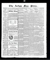 Acton Free Press (Acton, ON), November 17, 1921