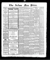 Acton Free Press (Acton, ON), August 31, 1922